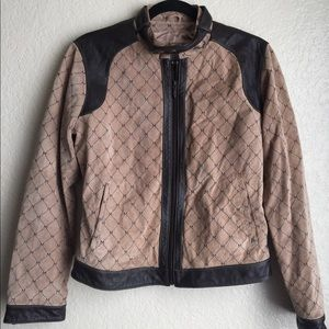 Wilson's Leather Maxima Brown Motorcycle Jacket